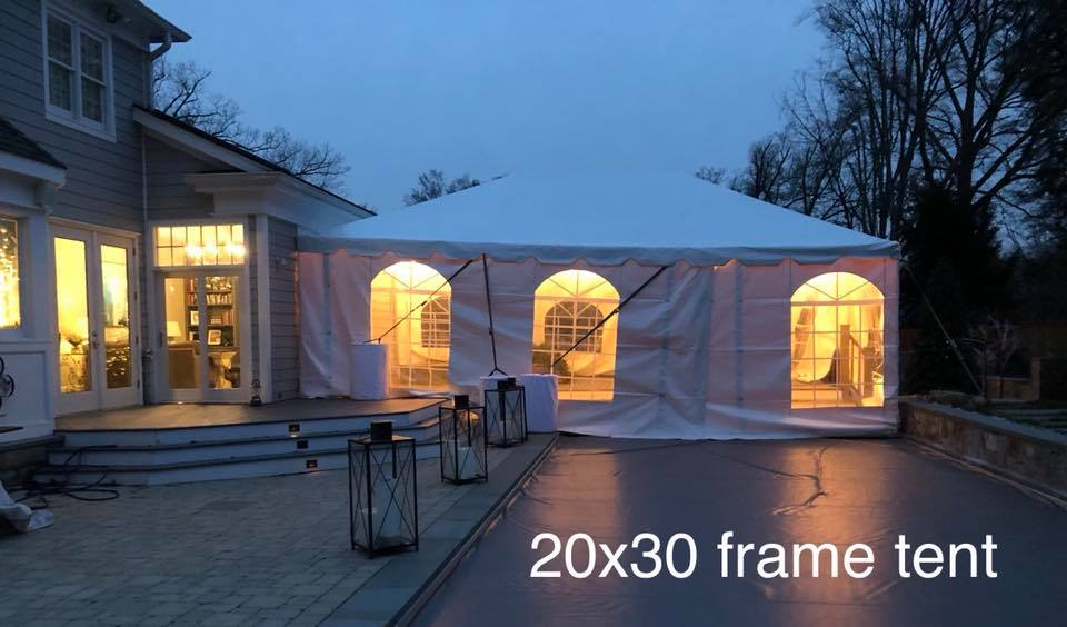 30x20 Frame Tent - Party Event Rentals Annapolis MD