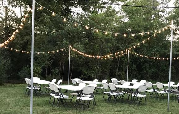 white table and chairs outdoor