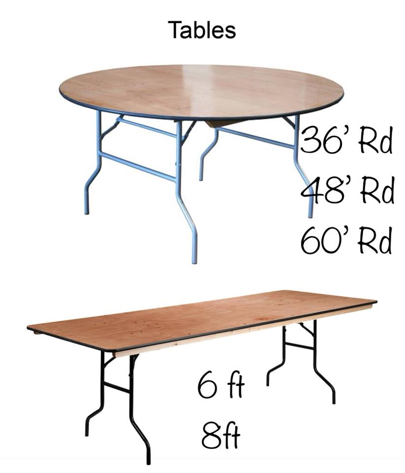 Round Rectangular Table Sizes Party Event Als Annapolis Md - What Size Is A Rectangular Party Table