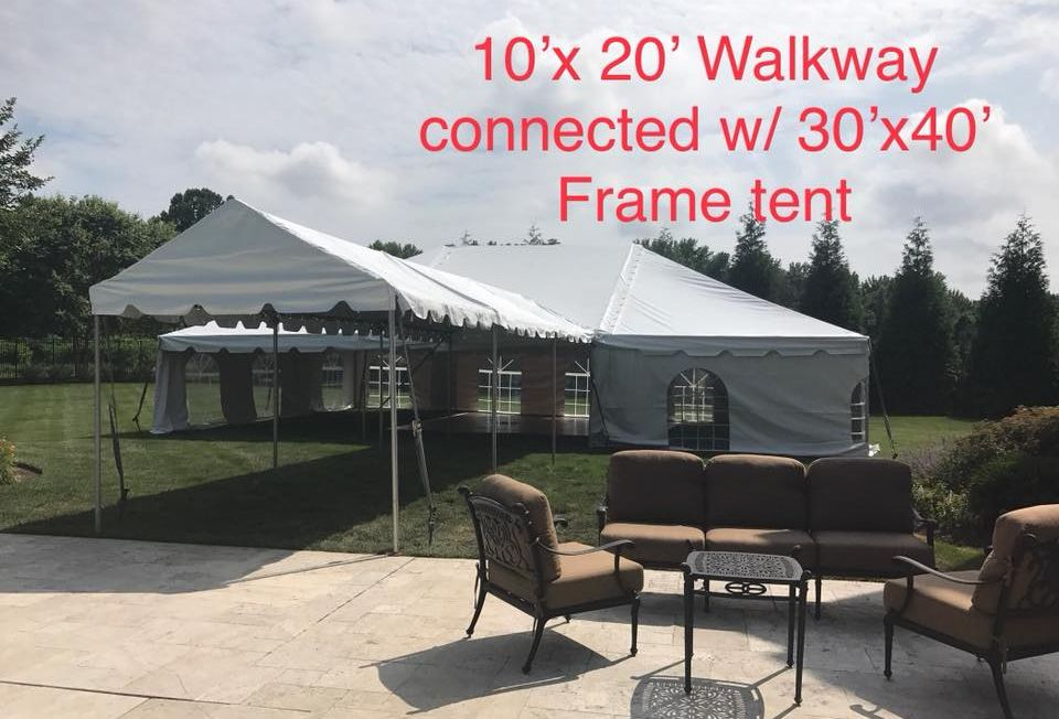 30x40 Tent With 10x20 Covered Walkway Party Event